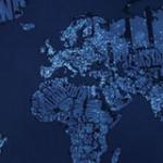 世界地図をモチーフにしたおもしろアート